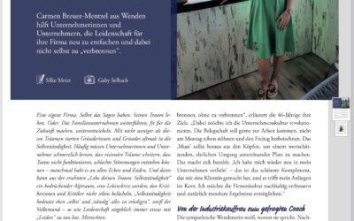 Das Woll-Magazin berichtet über Carmen Breuer-Mentzel als Leadership Coach